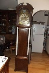 LONGCASE AUTOMATON 8 DAY BRASS ARCHED DIAL 18TH CENTURY CLOCK STUNNING